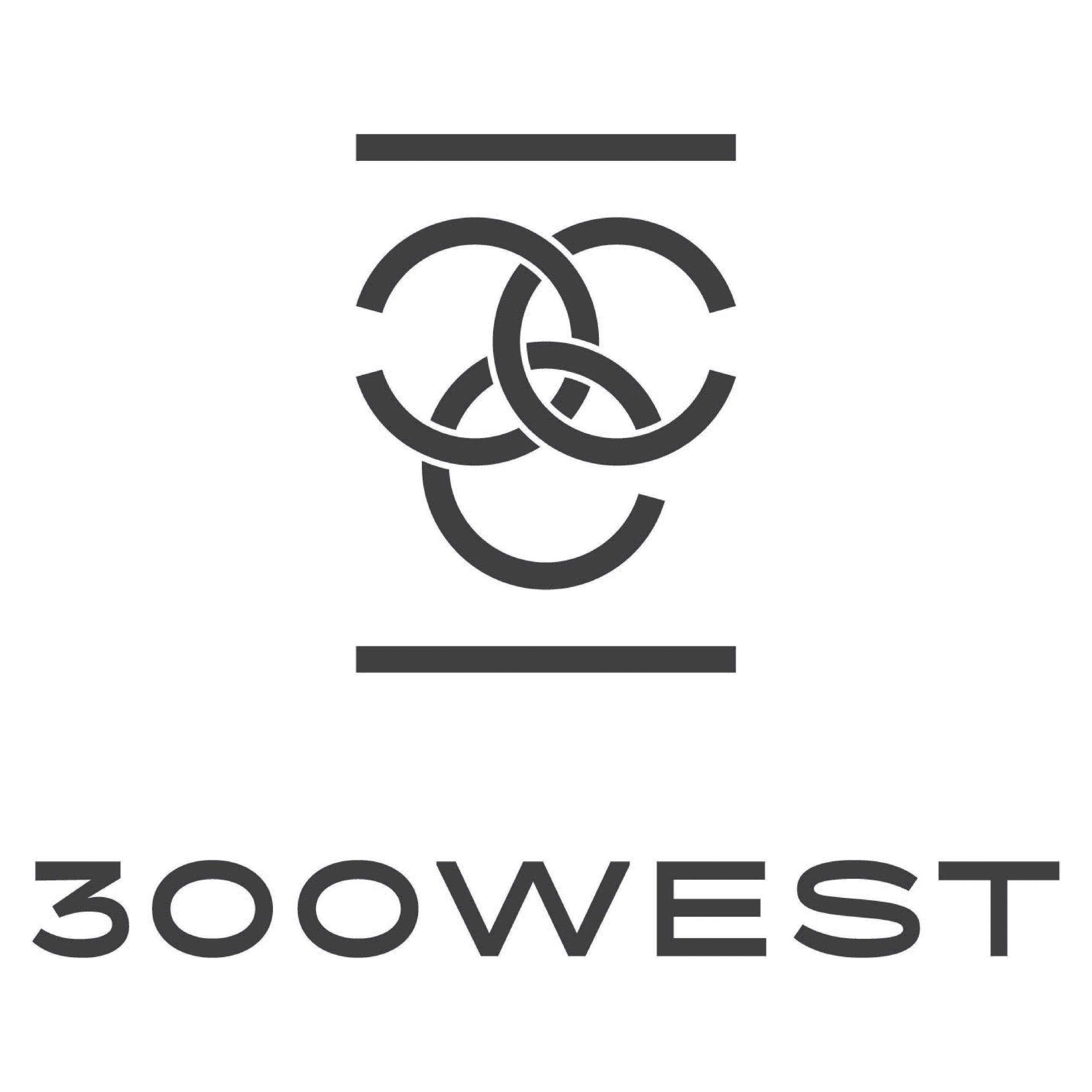 300West_Logo_Primary_CMYK_Black_DB